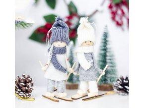 Vánoční dekorace- Vánoční  panenky zimní dvě barvy-skvělá dekorace na krb, parapet- VÝPRODEJ SKLADU