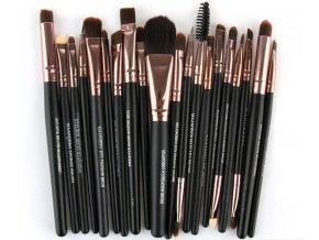 Pro ženy- profesionální černé štětce na make-up, líčení 20ks- TIP NA DÁREK PRO PŘÍTELKYNI K VÁNOCŮM
