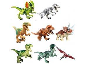 Hračky- dinosauři do stavebnice 8ks- Vhodné jako dárek k Vánocům