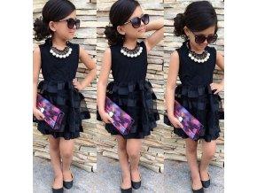 Společenské elegantní plesové šaty pro dívky černé