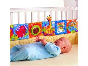 Pro děti, hračky- hrací dětský mantinel do postýlky se zvířátky- DÁRKY K VÁNOCŮM