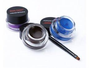 Pro ženy- dlouhotrvající oční gelové linky voděodolné černé, modré, fialové + štětec zdarma- Nápad na dárek pro přítelkyni k Vánocům nebo výročí