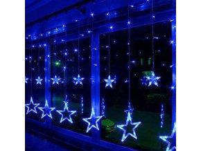 Vánoční dekorace - LED světelný řetěz - velké hvězdy 2m/12ks více barev