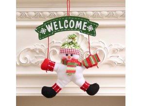 Vánoční dekorace- Vánoční ozdoby na okna nebo dveře santa a sněhulák- VÝPRODEJ SKLADU