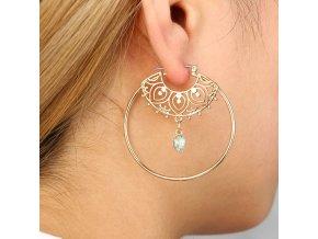 Pro ženy a dívky- elegantní náušnice kruhy bižutérie- Vhodný jako dárek k Vánocům pro přítelkyni