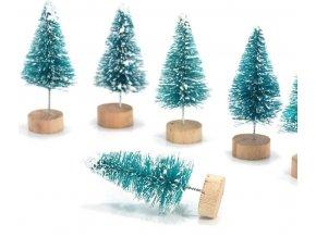 Vánoční dekorace- mini Vánoční stromečky 12ks jako skvělá dekorace na parapet, krb- VÝPRODEJ SKLADU