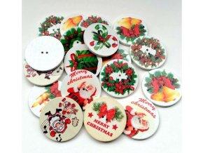 Vánoční dekorace- dekorační knoflíky s Vánočním motivem 10ks- SLEVA