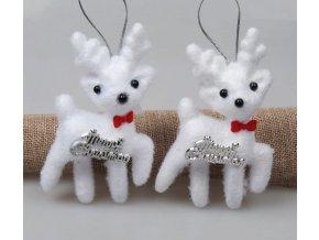 Vánoční dekorace- krásné ozdoby na Vánoční stromeček sob 2ks- VÝPRODEJ SKLADU