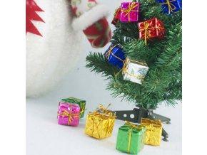 Vánoční dekorace- ozdoby na Vánoční stromeček dárečky 12ks- VÝPRODEJ SKLADU
