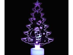 Vánoční dekorace- LED Vánoční světlo menící barvy Santa- VÝPRODEJ SKLADU