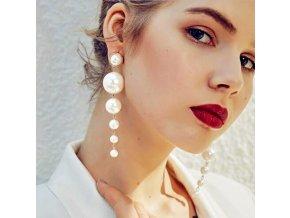 Asymetrické náušnice s perlami skvělý dárek pro přítelkyni