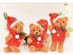 Vánoční dekorace, dekorace medvědi na stromeček, parapet 3ks