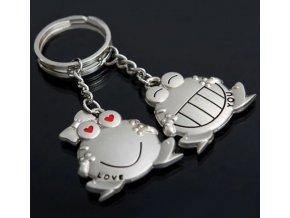 Zamilované žáby přívěšky na klíče 1 pár- Vhodný jako dárek k Vánocům