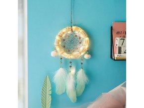 Lapač snů- ložnice, krásný svítící lapač snů- Vhodný jako dárek k Vánocům