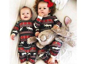 Dětské oblečení-  krásný overal Vánoční motiv- NÁPAD NA DÁREK