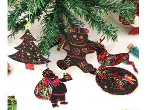 Vánoční dekorace- Vánoční magické dekorace na stromeček  24ks- VÝPRODEJ SKLADU