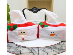Vánoční dekorace- malé Vánoční obaly na krabice papírových kapesníku- VÝPRODEJ SKLADU
