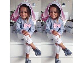 Dětské oblečení- dívčí luxusní set mikina a kalhoty- VÝPRODEJ SKLADU