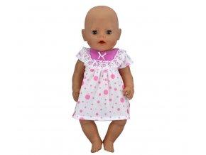 Hračky- bílé šatičky s puntíky pro panenky- vhodný jako dárek k Vánocům