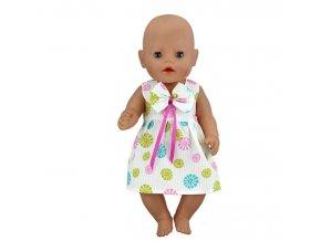 Hračky- bílé šatičky s mašličkou pro panenky- vhodný jako dárek k Vánocům
