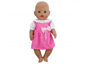 Hračky- bílé šatičky se srdíčky pro panenky- vhodný jako dárek k Vánocům