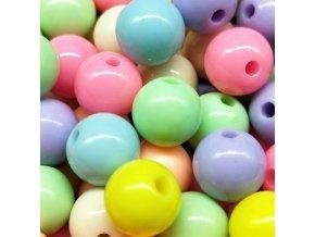 Korálky- barevné korálky mix 100ks/ 6mm pastelové barvy- VÝPRODEJ SKLADU