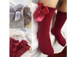 Dětské oblečení- roztomilé dlouhé ponožky s mašličkou, více barev- Vhodný jako dárek k Vánocům