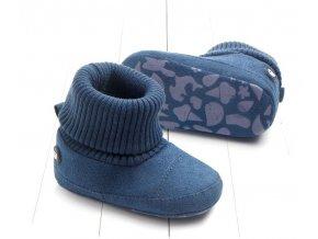 Dětské boty- teplé capáčky pro chlapce do kočárku šedé, modré, hnědé- VÝPRODEJ SKLADU