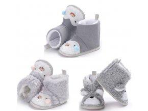 Dětské boty- teplé zimní válenky s kožíškem do kočárku 3 varianty