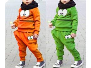Dětské oblečení- tepláková souprava pro chlapce a dívky oranžová, zelená- NÁPAD NA DÁREK
