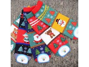Vánoční inspirace- dlouhé ponožky s Vánočním motivem více druhu