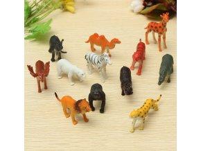Hračky pro děti - Set zoo zvířátek 12ks - vhodný jako dárek