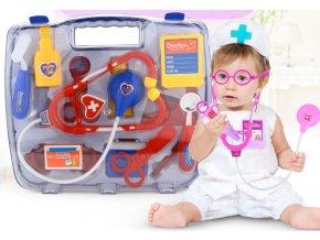 Hračky pro děti - Doktorský modrý a fialový set v kufříku 15ks - vhodné jako dárek