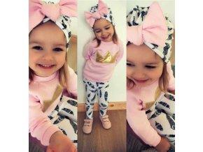 Dětské oblečení- dívčí podzimní set legíny, mikina a čepice- VÝPRODEJ SKLADU