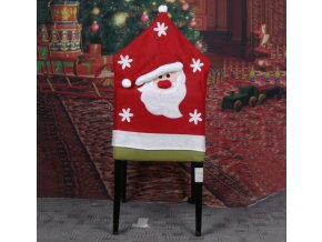 Vánoční dekorace- potah na židli Santa Claus-  VÝPRODEJ SKLADU