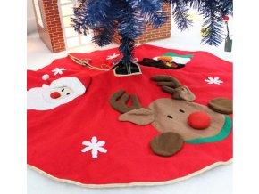 Vánoční dekorace- podložka pod Vánoční stromeček Santa a sob
