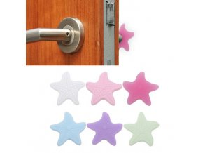 Samolepící gumové zarážky na dveře hvězdy - barevné varianty