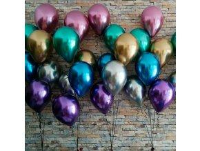 10 mix metalických balonků, vhodné na svatbu,narozeniny