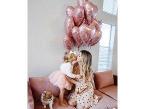 10ks balonků ve tvaru Srdce v barvě golden rose-vhodné na Valentina, svatby, narozeniny