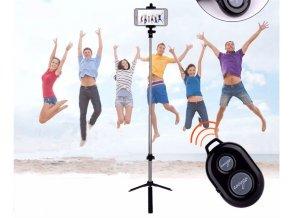 Selfie tyč se stativem a bluetooth dálkovým ovladačem na iphone, android ve více barvách- vhodný jako dárek