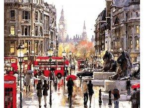 Malování podle čísel na plátno, Londýn- Vhodný jako dárek