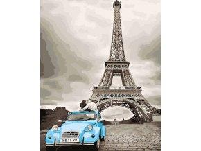 Malování podle čísel na plátno, Eiffelova věž- Vhodný jako dárek