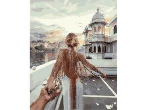 Malování podle čísel na plátno, zamilovaná dvojice- Vhodný jako dárek
