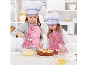 Pro děti-Kuchařský set zástěra s čepicí,chňapkou a 15 ks nádobí na pečení pro malé pomocníky