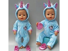 Hračky- modrý set Jednorožec pro panenky- vhodný jako dárek