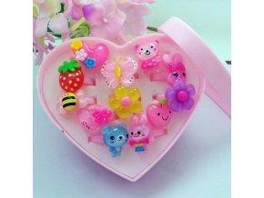 Pro dívky- sada plastových prstýnků 10ks - Vhodný jako dárek k Vánocům