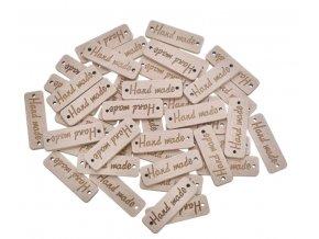 Dřevěné cedulky ozdoby hand made 50ks-více variant