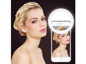Kruhové LED světlo na mobil pro dokonalejší selfie-4 barvy