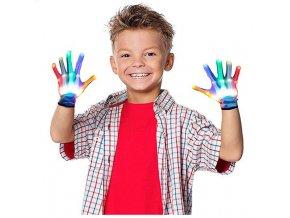 LED barevné rukavice pro děti a dospělé vhodné na narozeniny, párty- VÝPRODEJ SKLADU