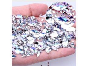 Dekorační kamínky, diamanty ve tvaru slzy na nehty 100ks